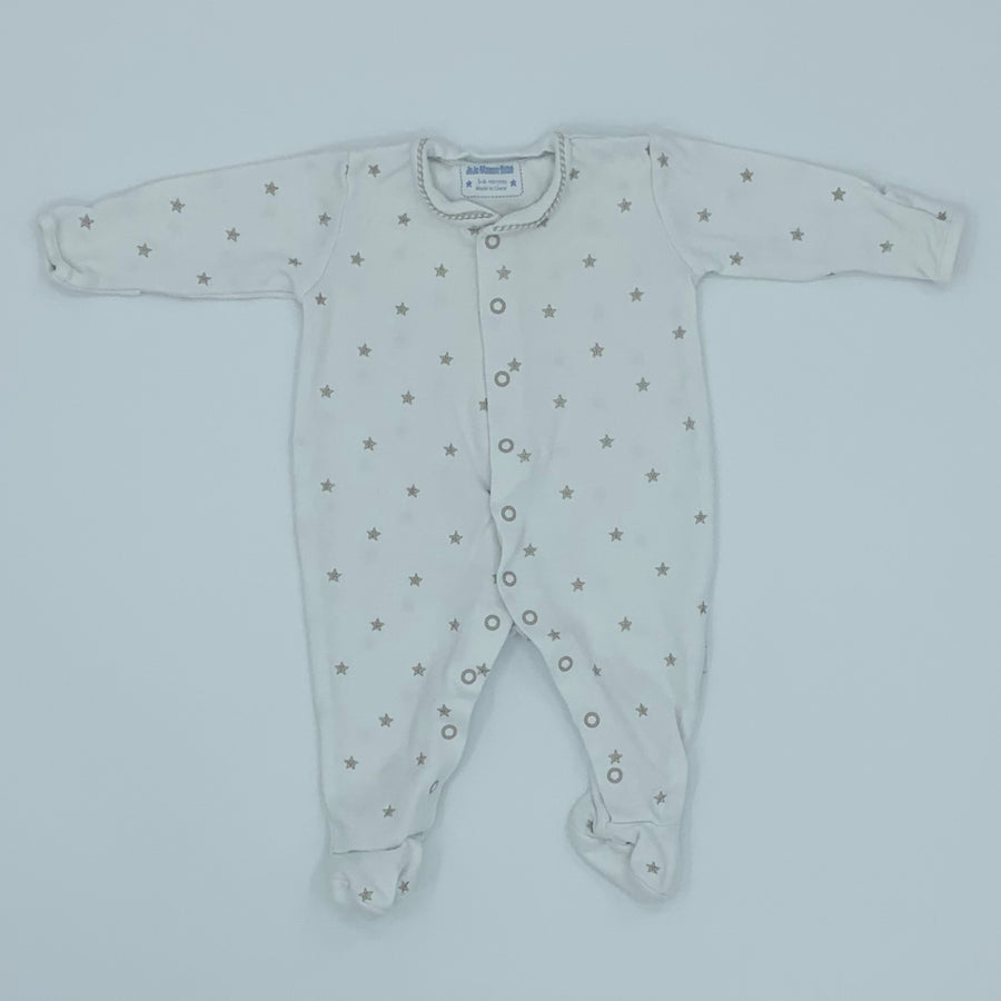Hardly Worn Jojo Maman Bebe star embroidery sleepsuit size 3-6 months