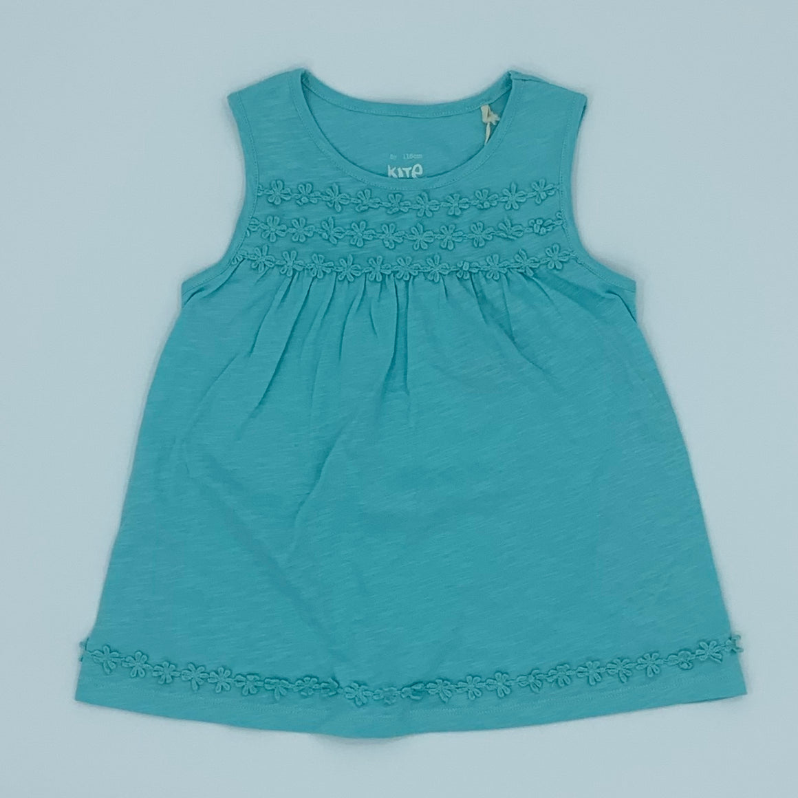 New Kite turquoise lace top size 5-6 years