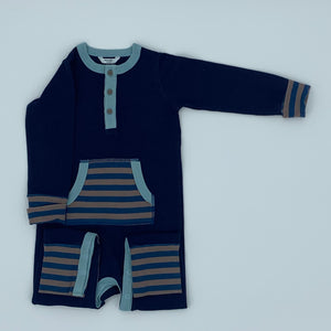 Hardly Worn Boden striped romper size 18-24 months