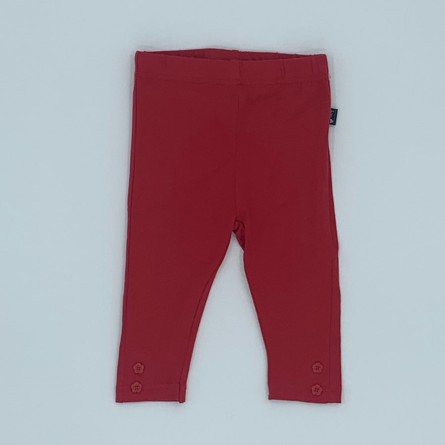 Hardly Worn Jojo Maman Bebe red leggings size 3-6 months