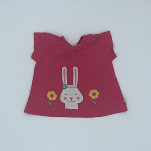 Gently Worn Frugi bunny top size 6-12 months