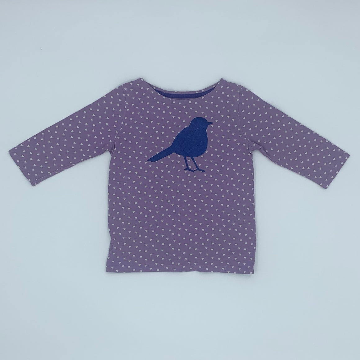 Gently Worn Boden spotted top size 5-6 years