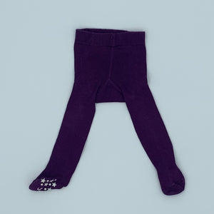 Gently Worn Jojo Maman Bebe purple tights size 0-6 months