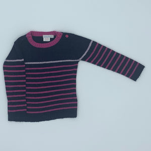 Gently Worn Jojo Maman Bebe striped jumper size 2-3 years