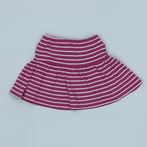 New Jojo Maman Bebe pink striped skort size 2-3 years