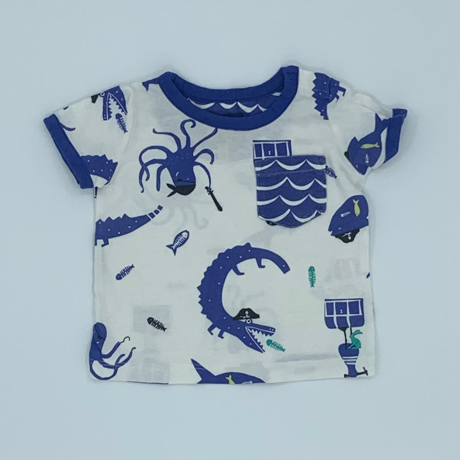 Gently Worn Joules blue ocean set size 6-9 months