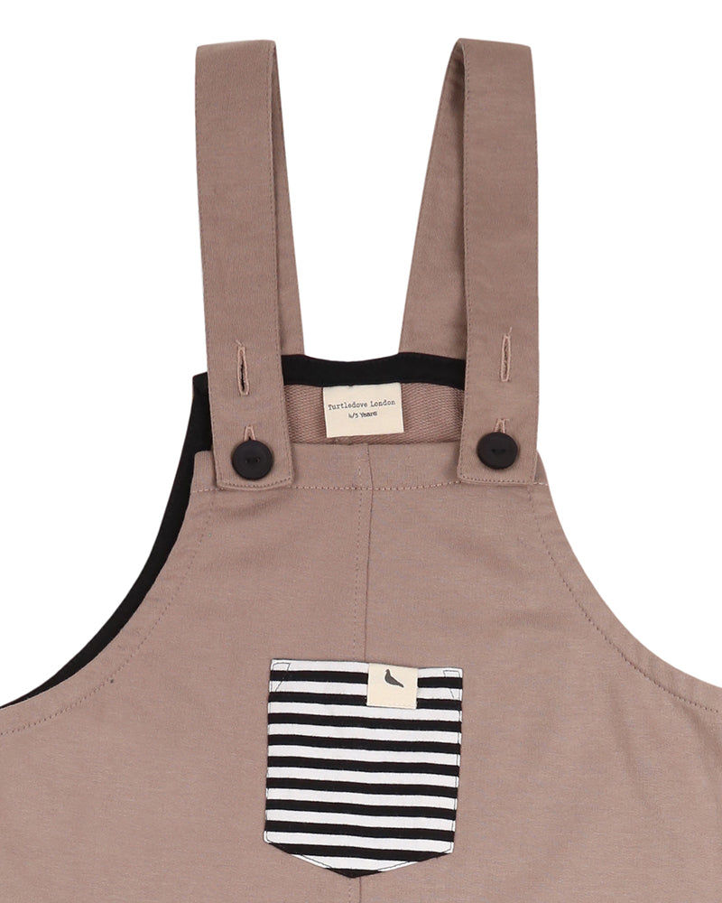 Stone easy-fit dungarees