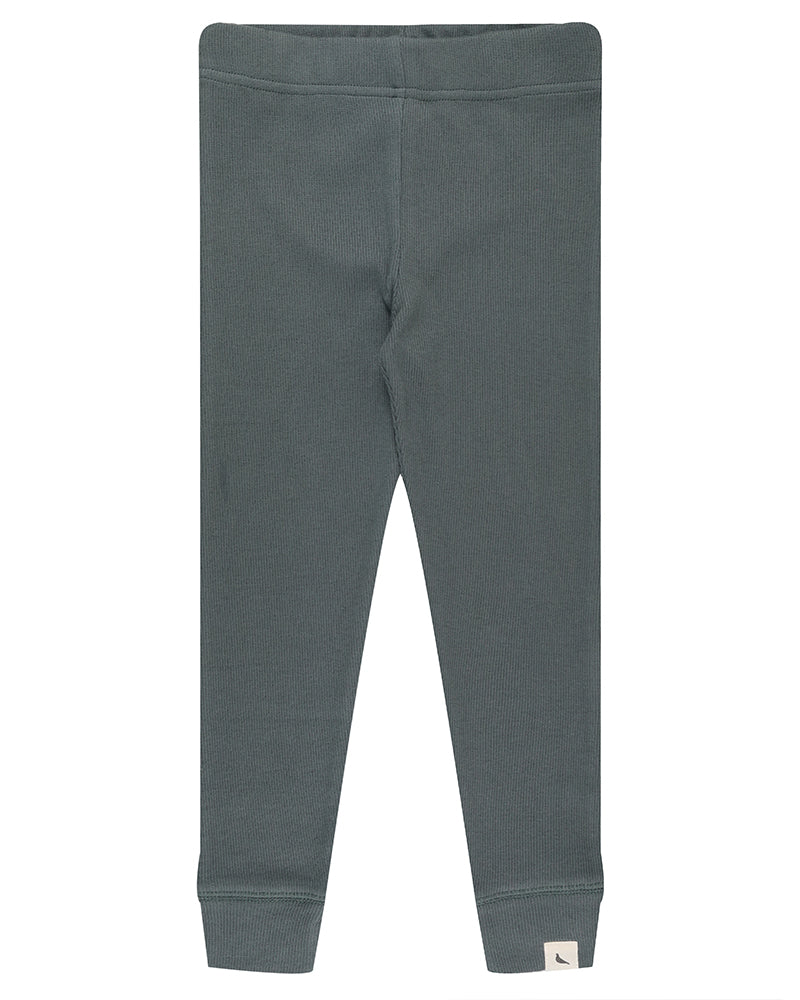 Rib Leggings in Steel