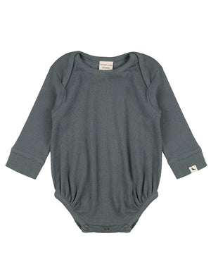 Rib bodysuit in steel