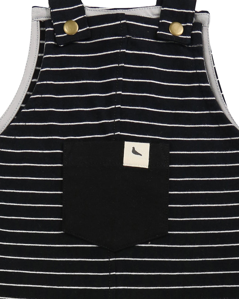 Stripe easy-fit dungarees