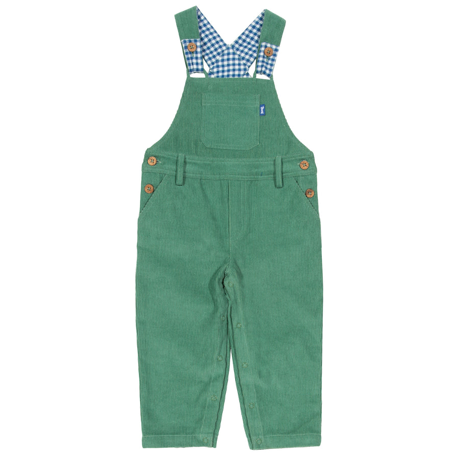 New Kite green cord dungarees size 9-12 months