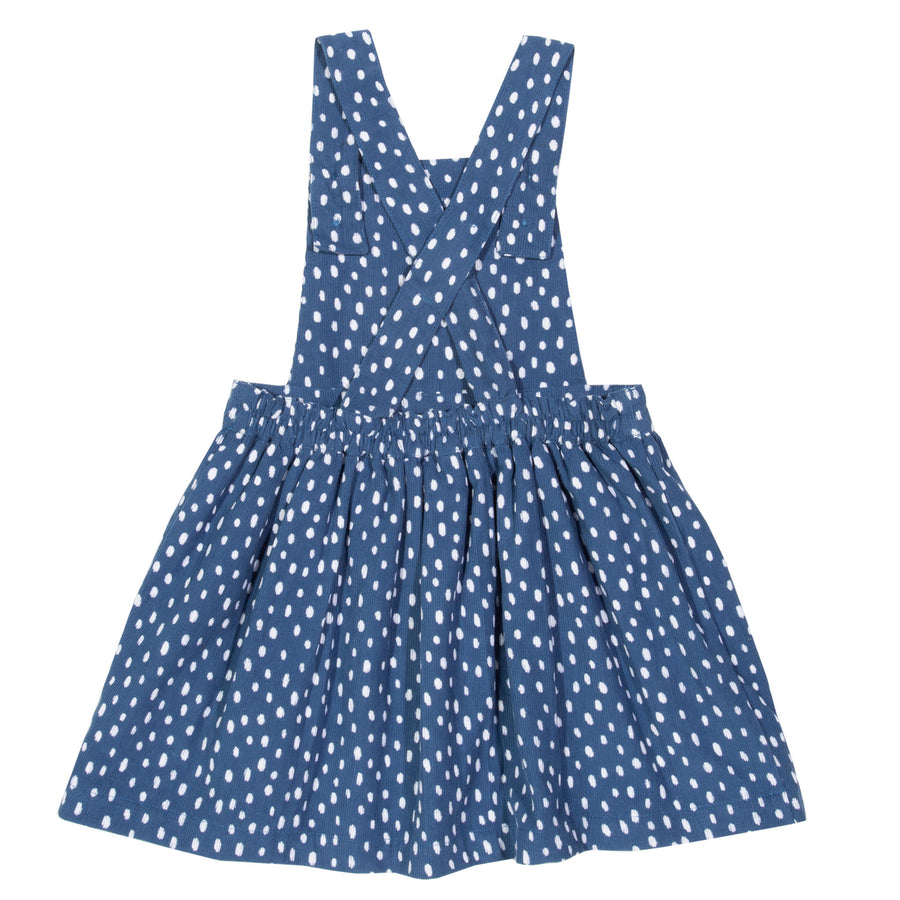 Speckle Heart pinafore