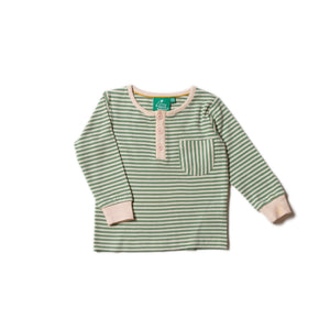 New Little Green Radicals alpine striped top size 4-5 years