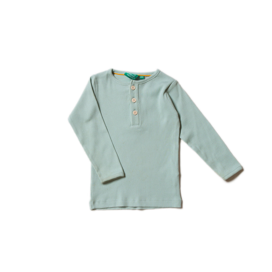 Alpine Green Rib Long Sleeve Tee