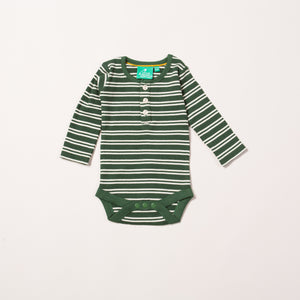Vintage Green Stripes Forever Baby Body