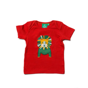 T-Shirt with Leo Lion appliqué