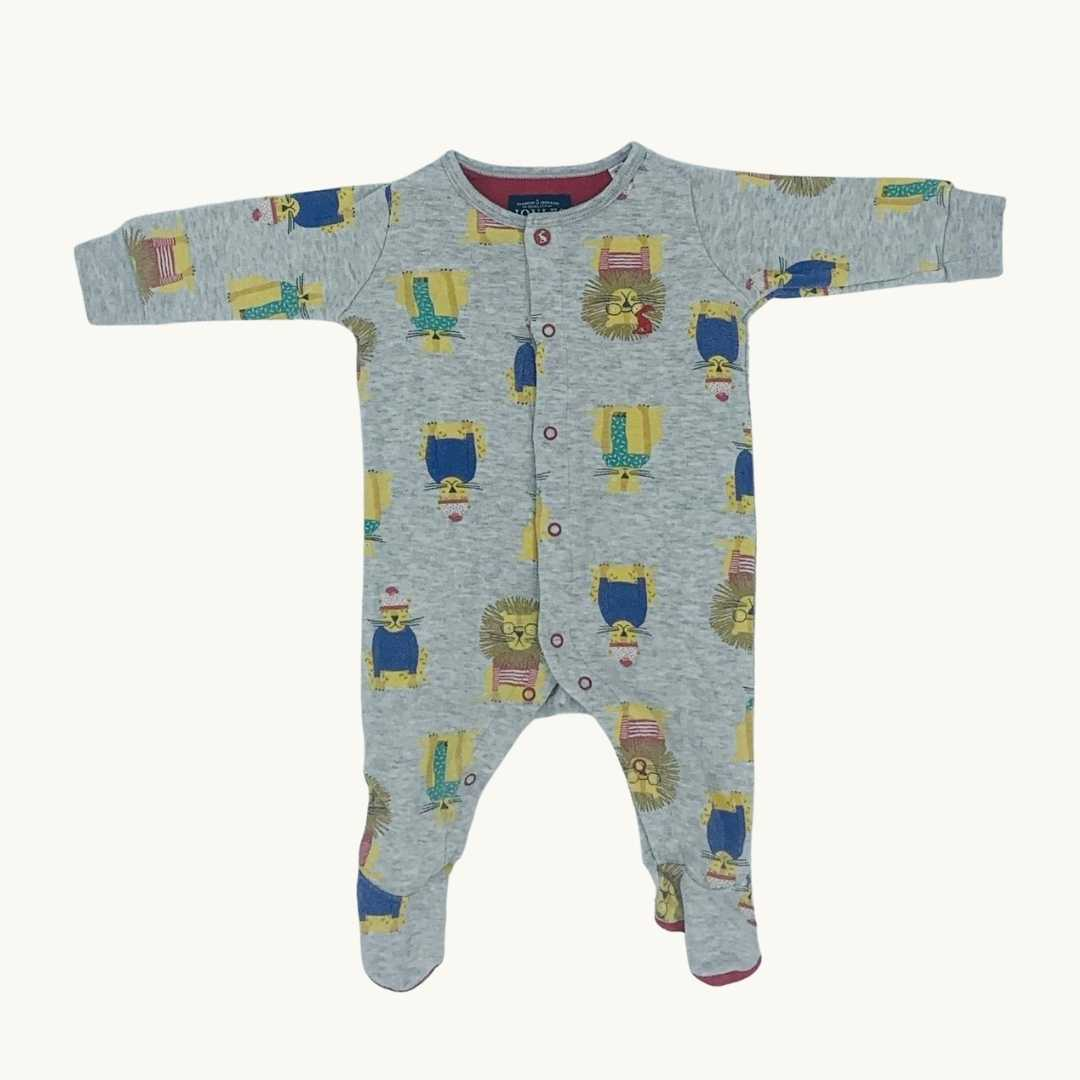 Gently Worn Joules cat sleepsuit size 0-3 months