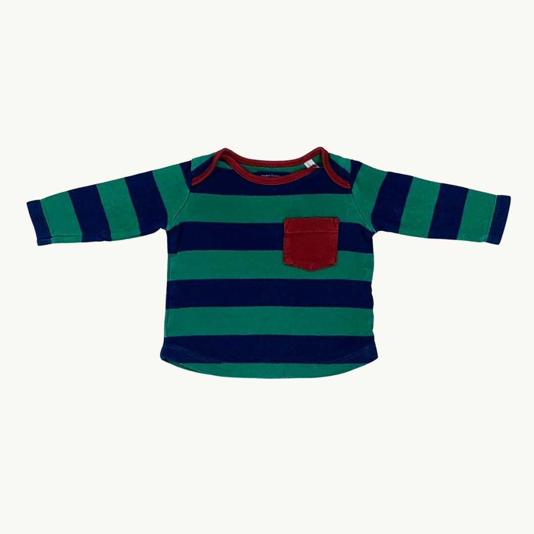 Gently Worn Joules striped top size 3-6 months