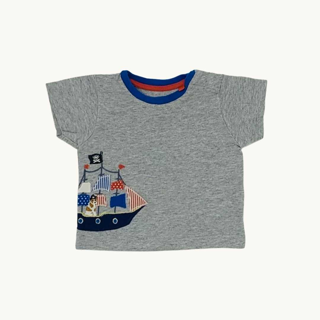 Gently Worn Boden pirate t-shirt size 0-3 months