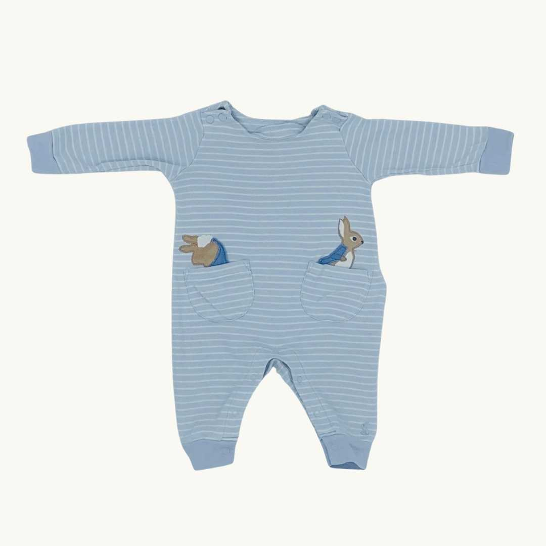 Gently Worn Joules peter rabbit romper size 0-3 months