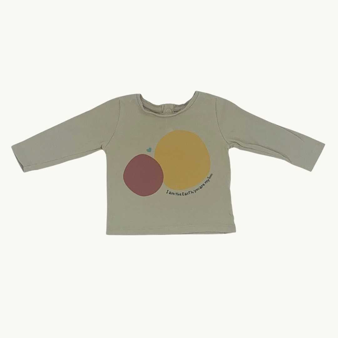 Gently Worn Baby Mori brown top size 3-6 months