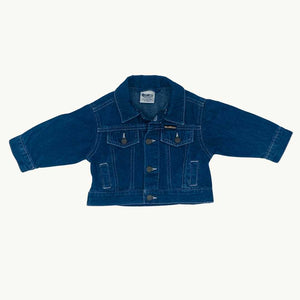 Gently Worn Osk Kosh B'Gosh denim jacket size 3-6 monhts