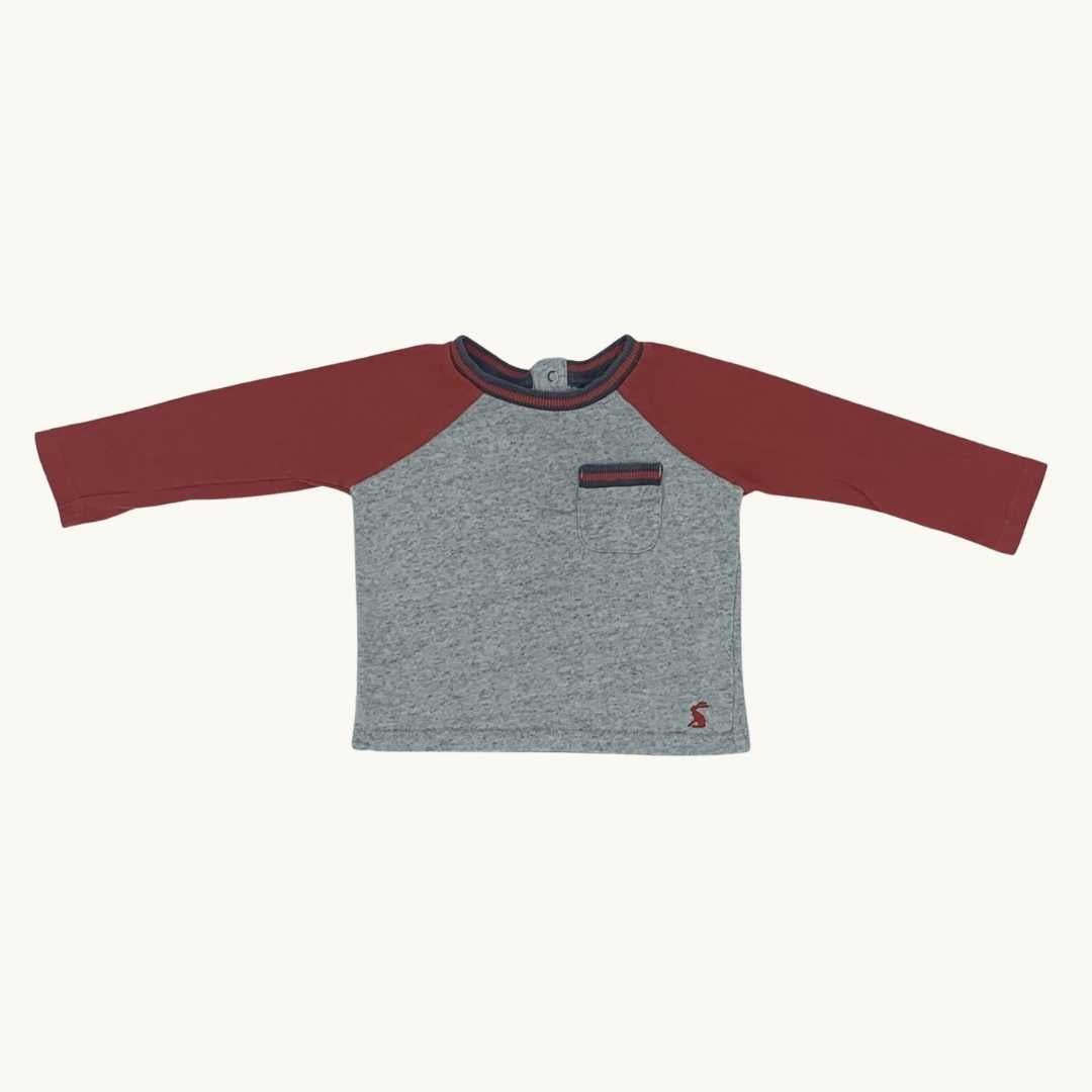 Gently Worn Joules long sleeve top size 6-9 months