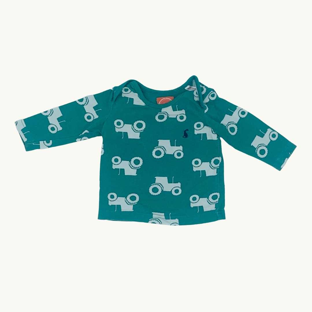 Gently Worn Joules tractor top size 0-3 months