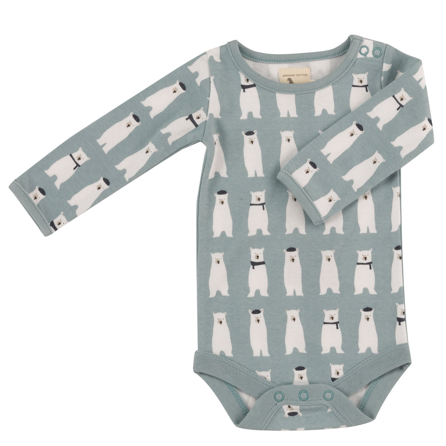 Long Sleeve Bodysuit with all over Polar Bear print