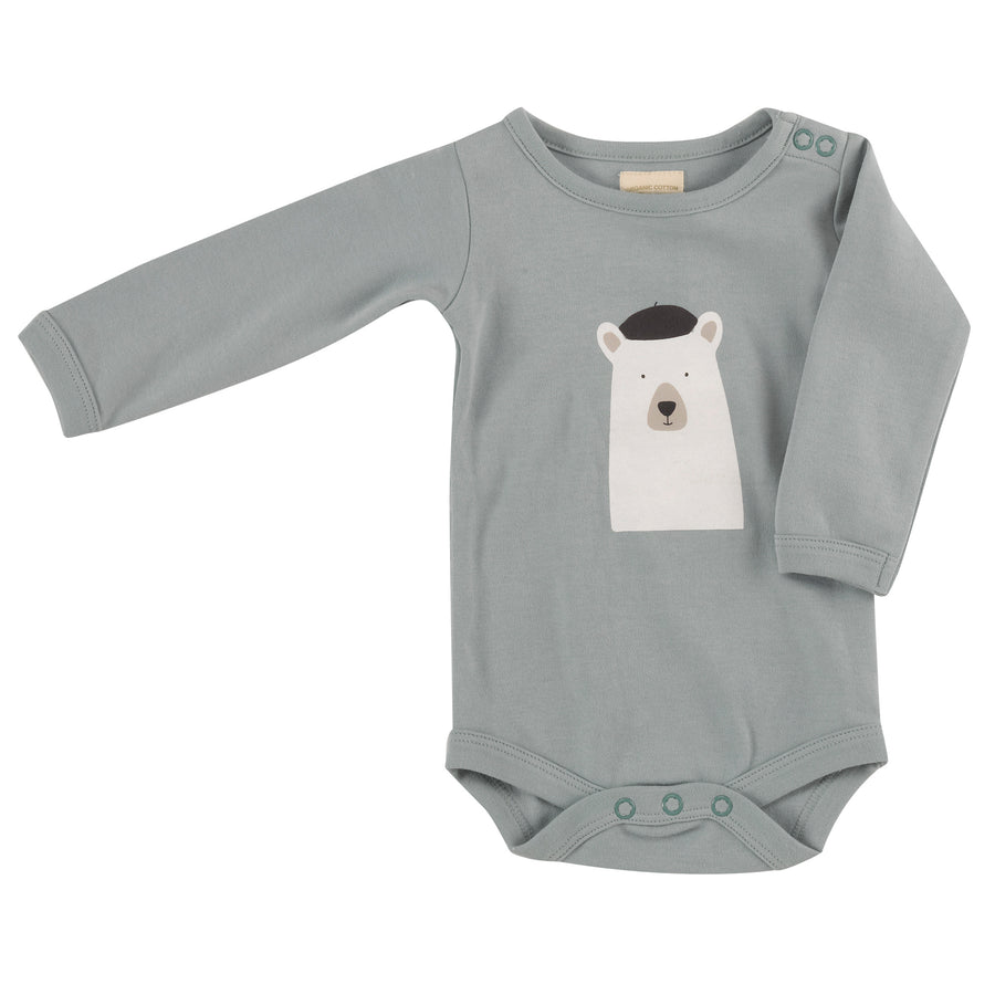 Long Sleeve Bodysuit with Polar Bear print