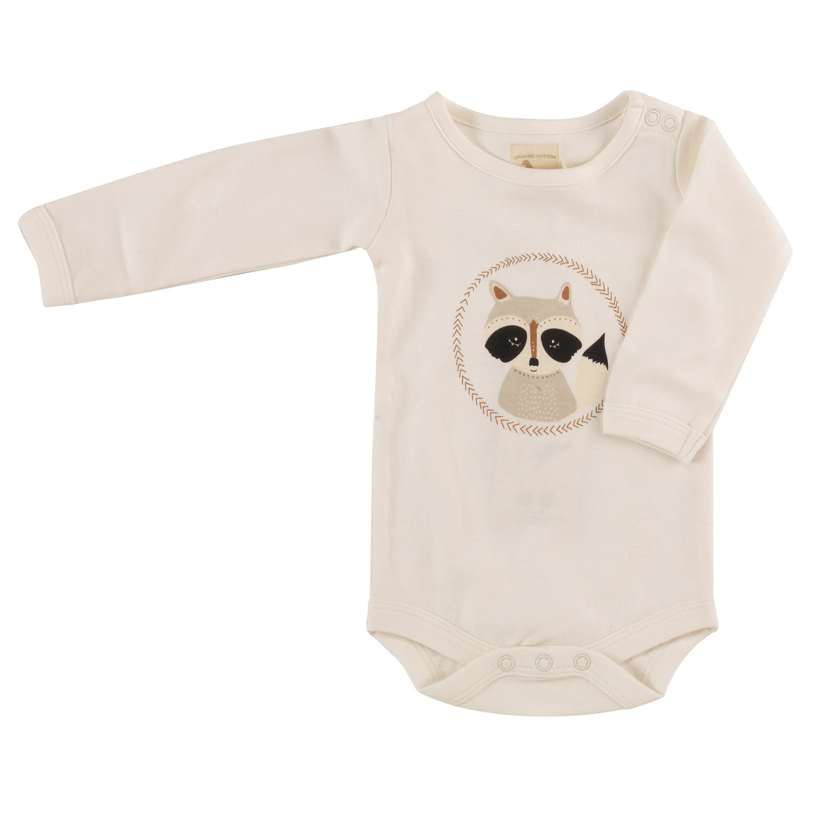 Long Sleeve Bodysuit with Racoon print