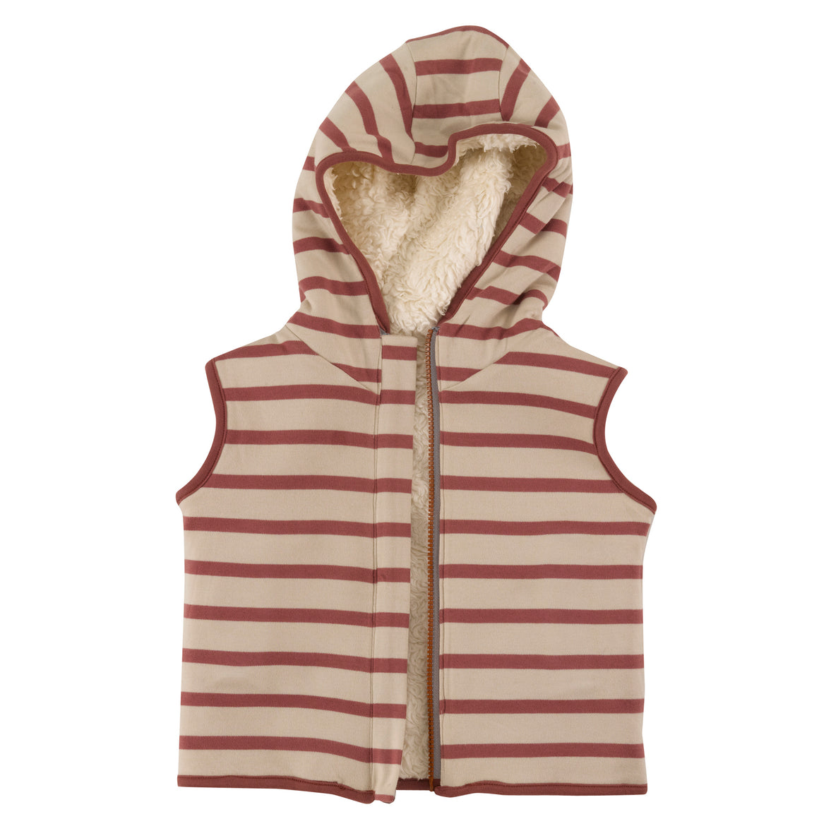 Reversible Gilet with Spice breton stripe
