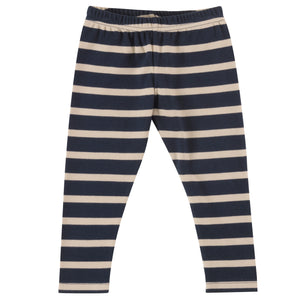 Leggings in Ink Blue breton stripe