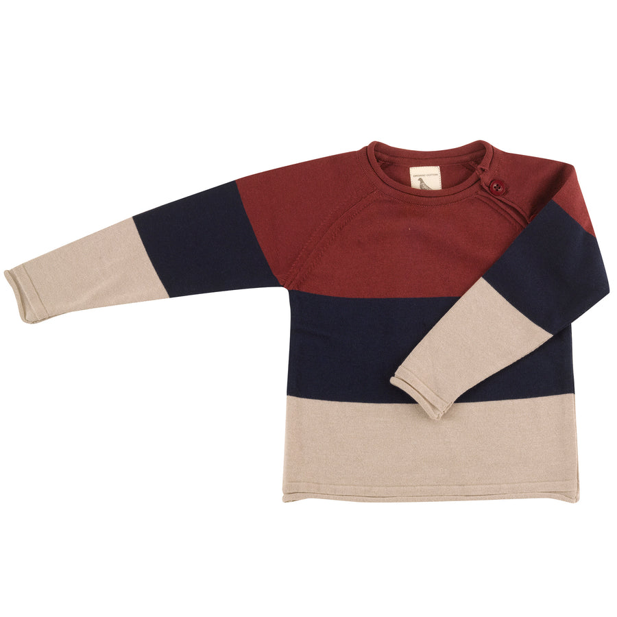 Raglan Jumper with stripes