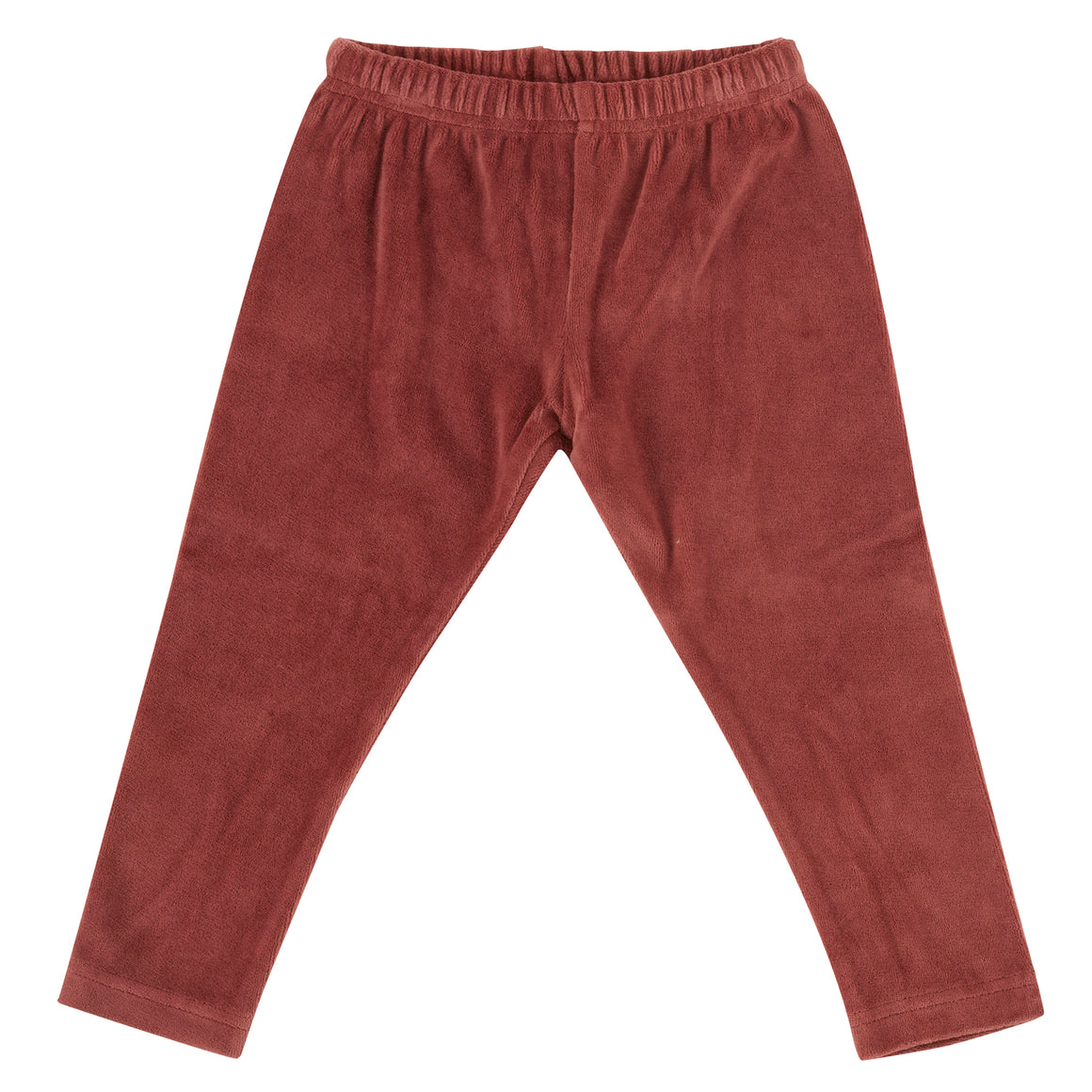 Velour leggings in Spice
