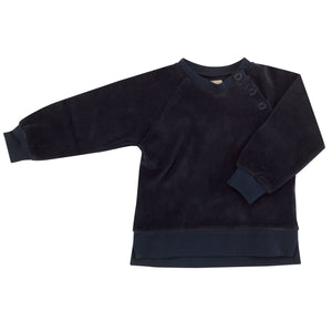 Velour sweatshirt in Ink Blue