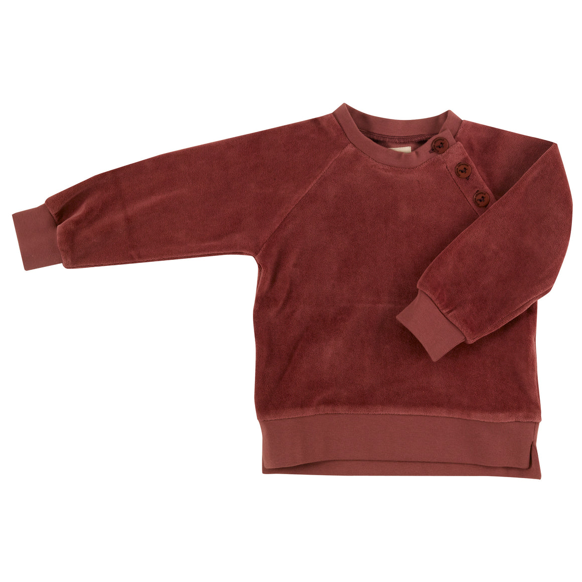 Velour sweatshirt in Spice