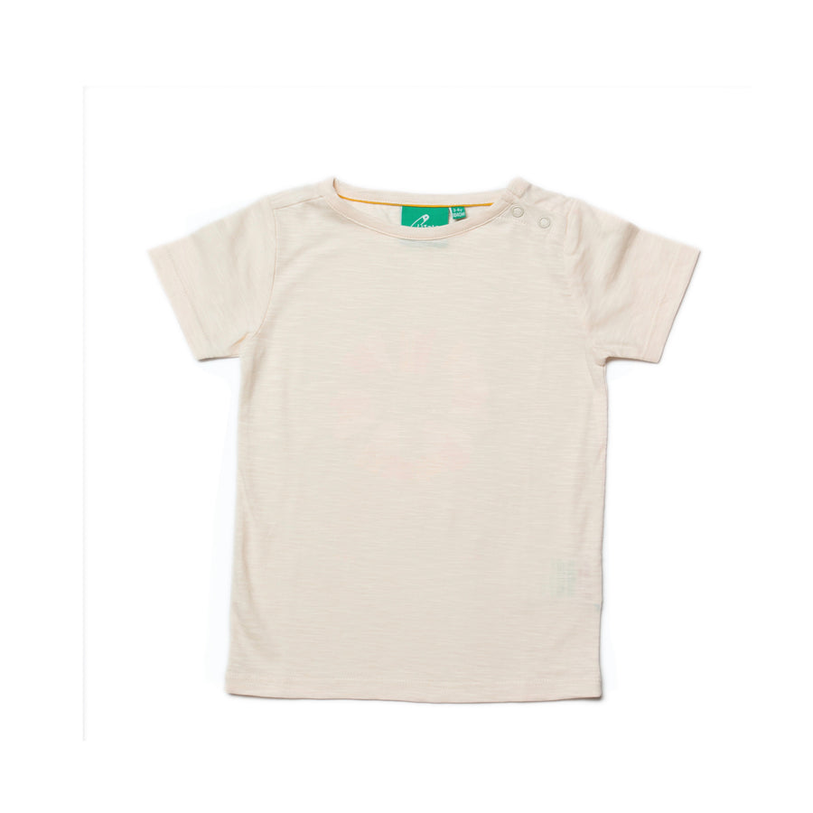 New Little Green Radicals powderpuff cream t-shirt size 3-6 months