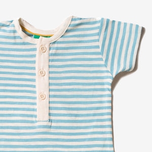 Corn Silk Blue Stripe Summer Shortie