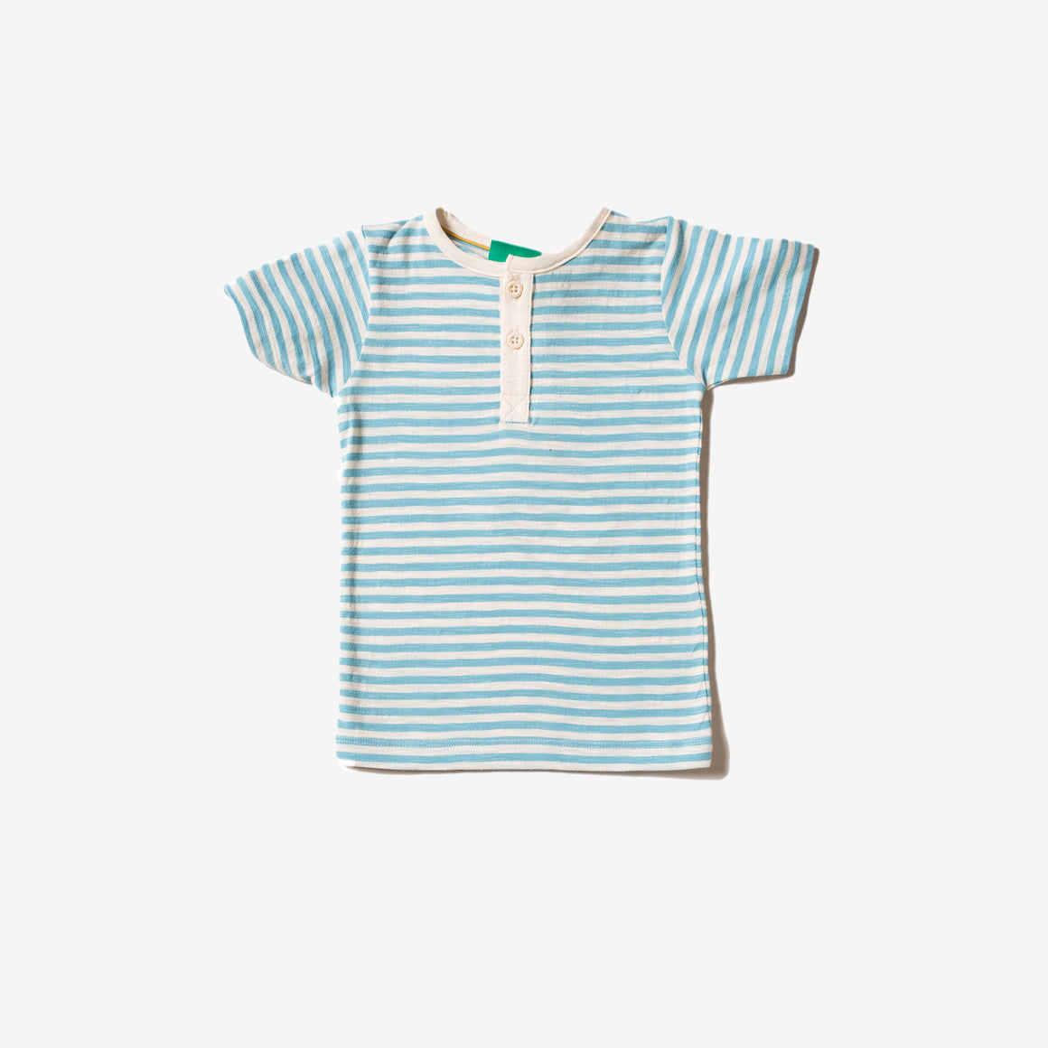 Corn Silk Blue Stripe Short Sleeve Everyday Tee