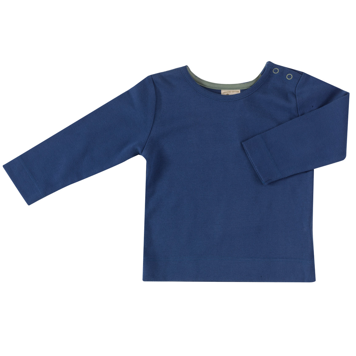 Long Sleeve T-Shirt (Plain) in Delft Blue
