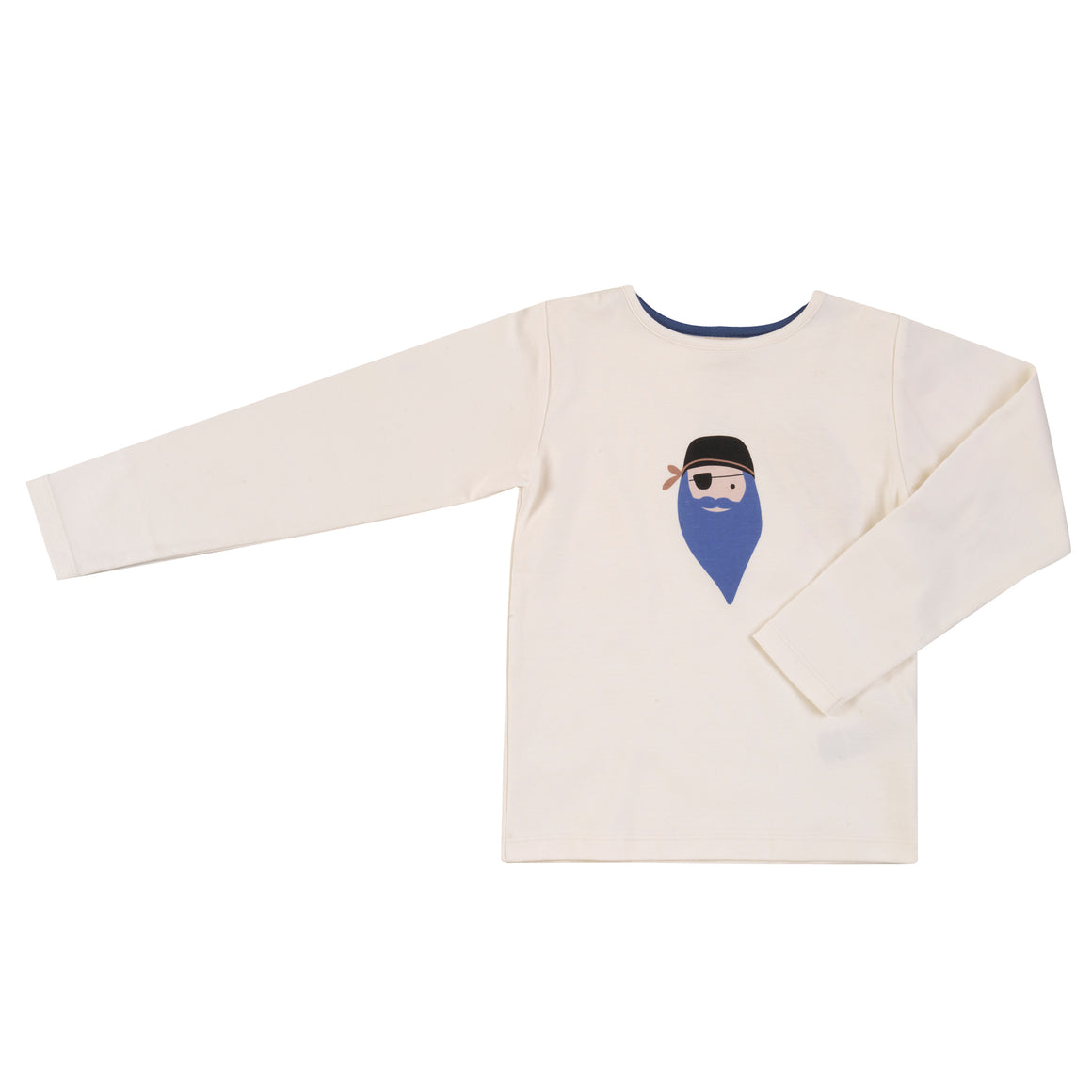 Long Sleeve T-shirt (Single Print) in Bluebeard Pirate