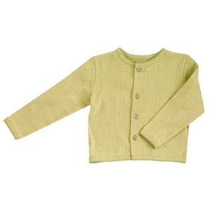 Pointelle Cardigan in Beechnut