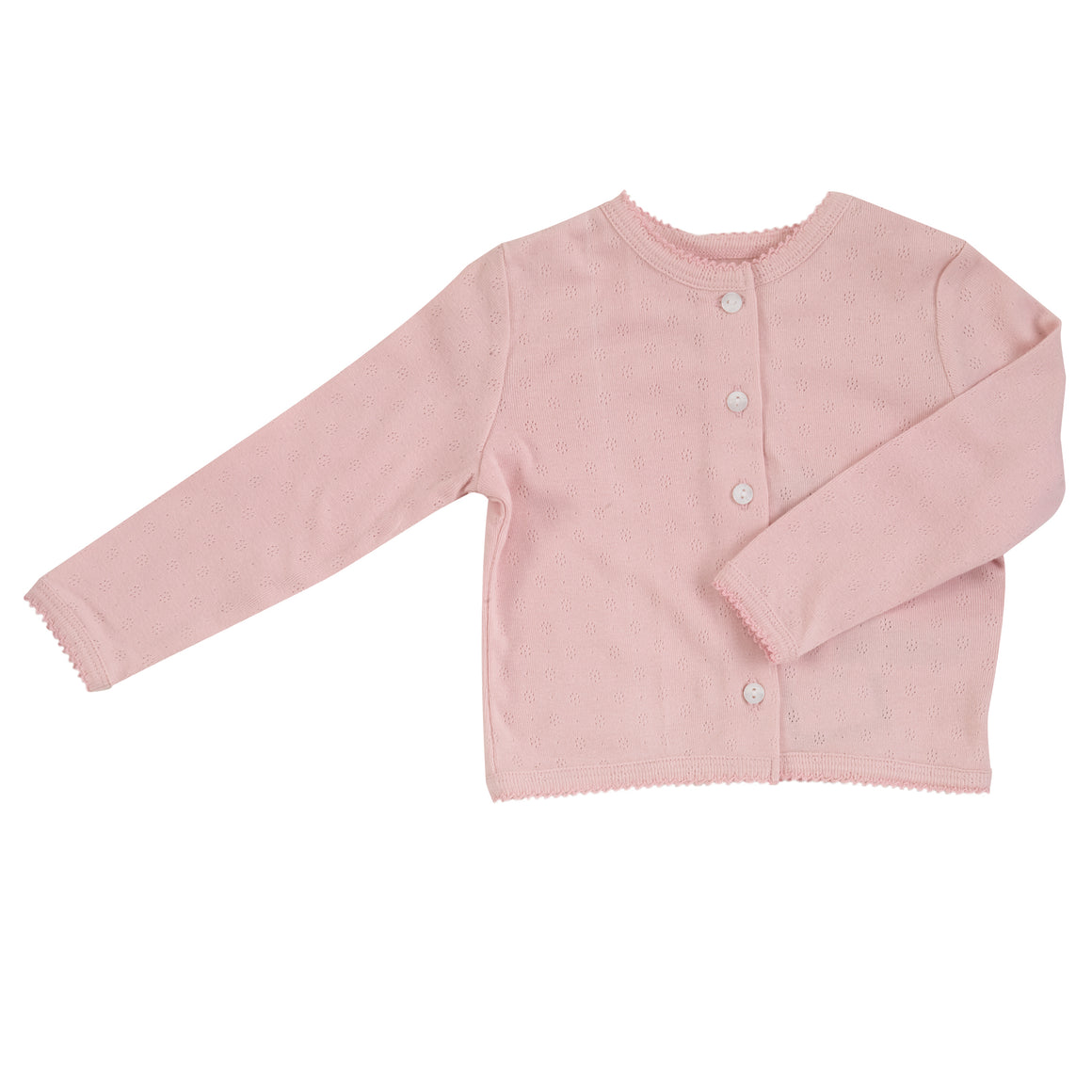Pointelle Cardigan in Pink