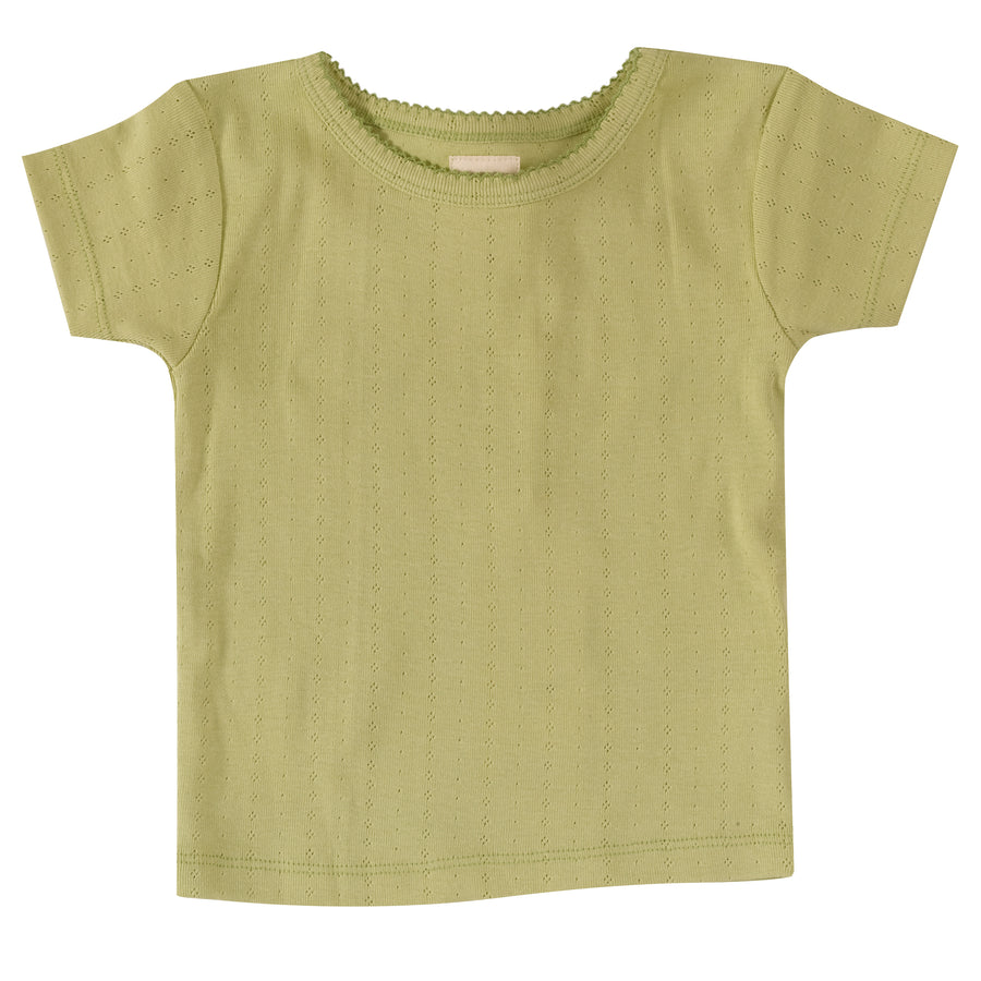 Pointelle T-shirt in Beechnut