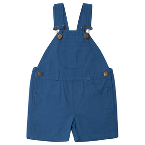 Dungaree Shorts in Cobalt Blue