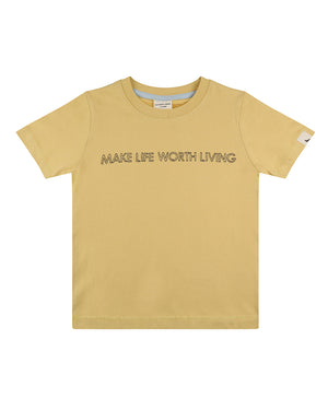 Living Life embroidered t-shirt