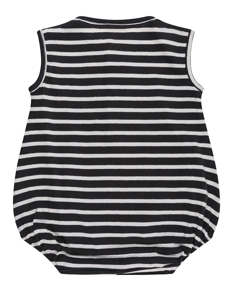 Stripe bubble romper