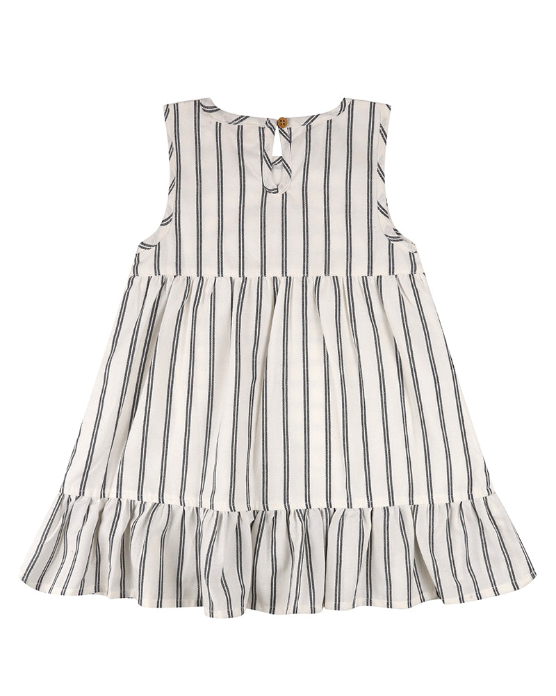 Wide stripe dress