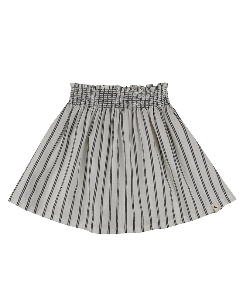 Wide striped skirt